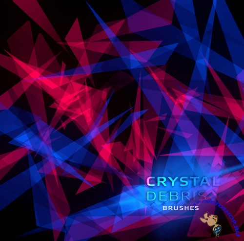 Crystal Debris Photoshop Brushes
