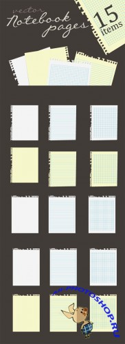 Designtnt - Vector Notebook Pages