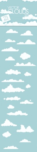 Designtnt - Vector Clouds Collection