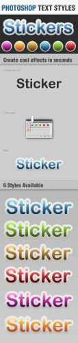 Designtnt - Sticker Photoshop Text Styles