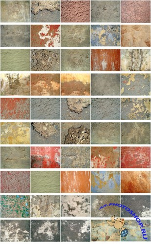 50 Concrete Textures Set 1