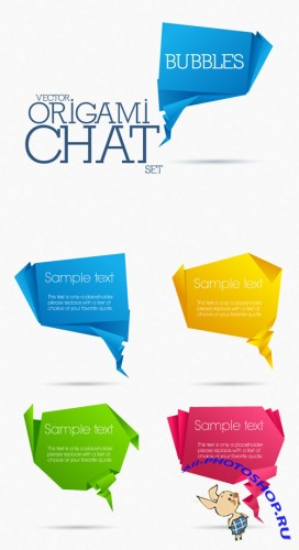Designtnt - Origami Chat Bubbles