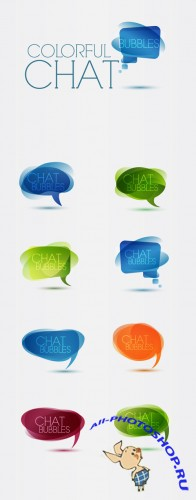 Designtnt - Vector Colorful Speech Bubbles
