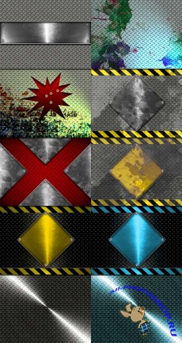 10 Urban Abstract Metal Backgrounds Set 1