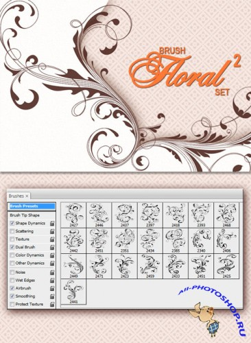 Designtnt - Floral Brushes 2