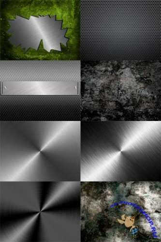 10 Urban Abstract Metal and Grunge Backgrounds Set 5