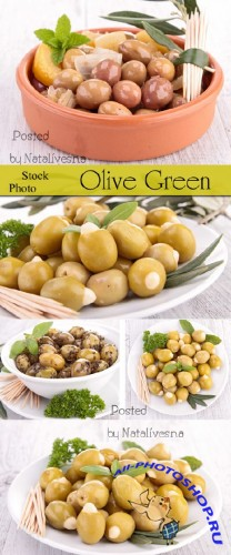 Зеленые оливки / Green olives - Stock photo