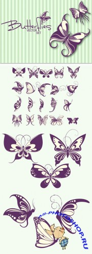 Designtnt - Stylish Butterflies Set