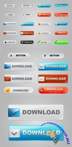 Designtnt - Download Buttons Set 1