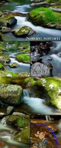 �����  � ����� / Stones at a stream - Stock photo