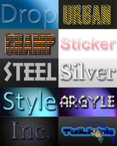10 Layered Photoshop Styles - Pack 7