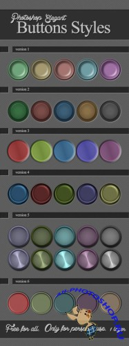 Elegant Buttons Photoshop Styles
