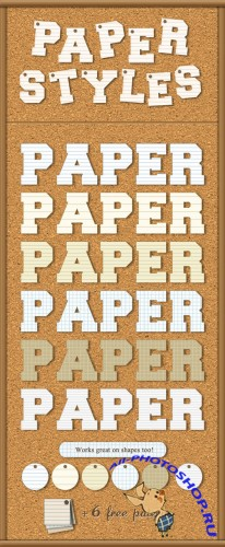 Paper Photoshop Styles