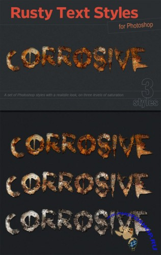 Designtnt - Rusty Text Effects & Styles