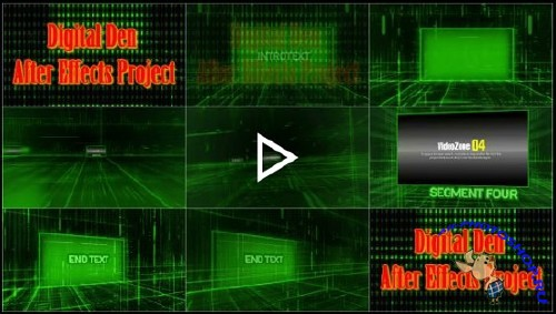 Проект для After Effects - Digital Den