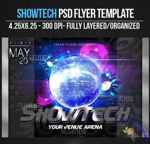 Showtech Flyer/Poster PSD Template