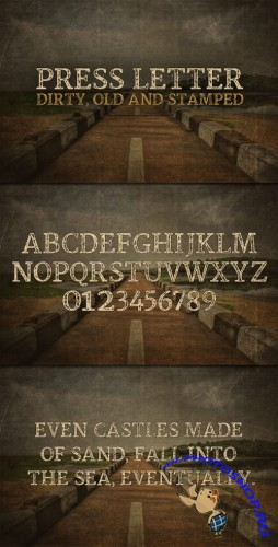WeGraphics - Press Letter - A Dirty Stamped Font