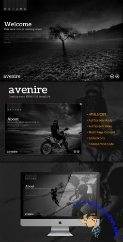 WeGraphics - Avenir - A Coming Soon HTML Template