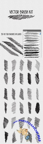 WeGraphics - Vector Cross Hatch Brush Kit