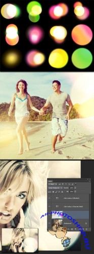 12 Large Bokeh Photoshop Brushes