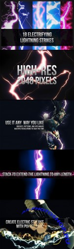 18 Electrifying Lightning Strikes Photoshop Brushes and Patterns