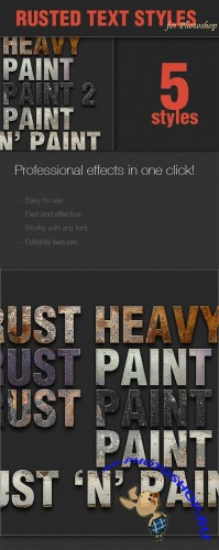 Designtnt - Rusted Text Styles for Photoshop