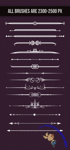 Designtnt - Dividers Brush and Vector Set 1