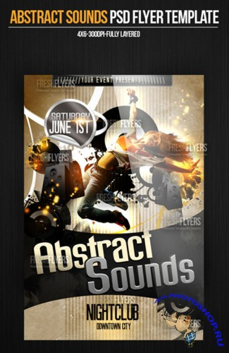 Abstract Sounds Party Flyer/Poster PSD Template
