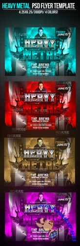 Heavy Metal Flyer/Poster PSD Template