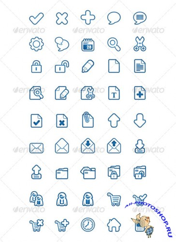 GraphicRiver - BlueSakura 45 Icon for your project 79037