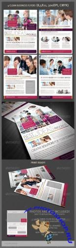 GraphicRiver - 4 Clean Business Flyers 2084269