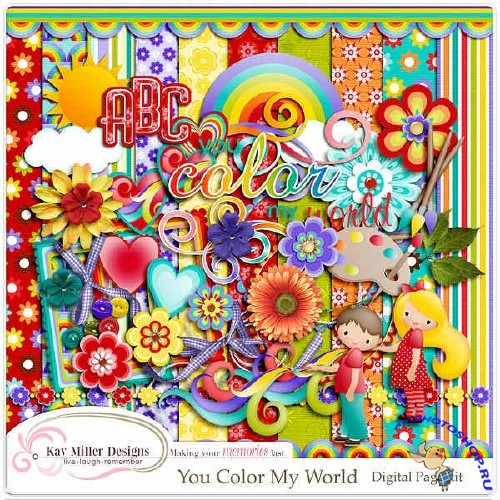 Скрап-комплект - You Color My World