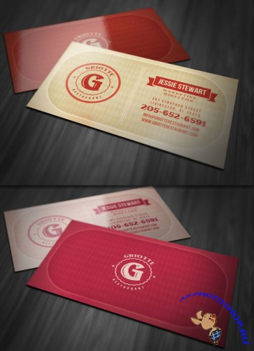 Vintage Style Business Card PSD Template