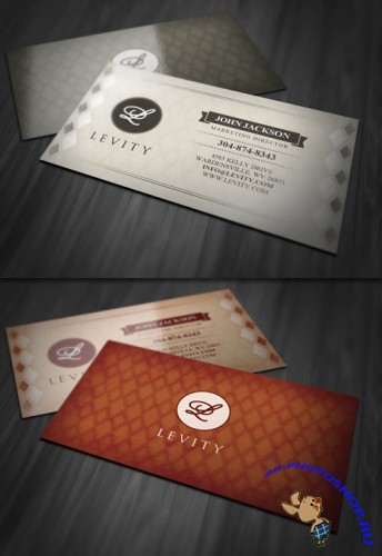 Stylish Retro Business Card PSD Template