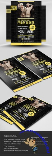 Friday Nights Flyer/Poster PSD Template
