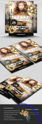 Nightclub Glamour Flyer/Poster PSD Template