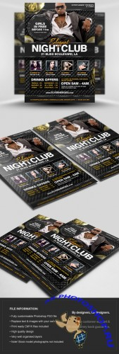 Elegant Nightclub Flyer/Poster PSD Template