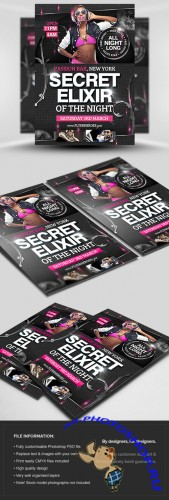 Secret Elixr Flyer/Poster PSD Template