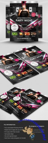 Speciality Party Flyer/Poster PSD Template