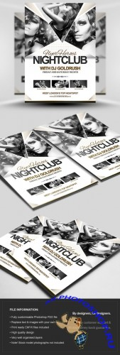 FH Nightclub Flyer/Poster PSD Template