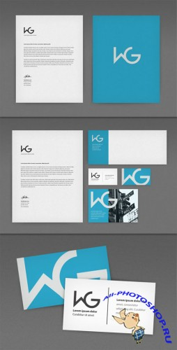 WeGraphics - Identity Kit Photoshop Mockup Set