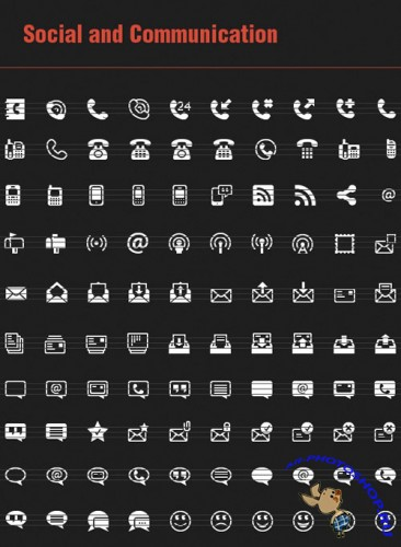 100 Social and Communication Vector Icons