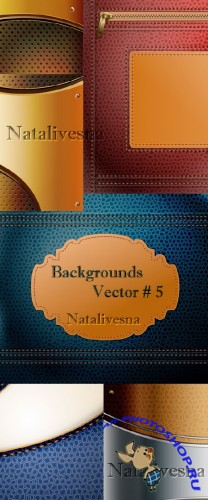 ���������� � ������� ���� � ������� # 5 / Brown and blue backgrounds in Vector # 5