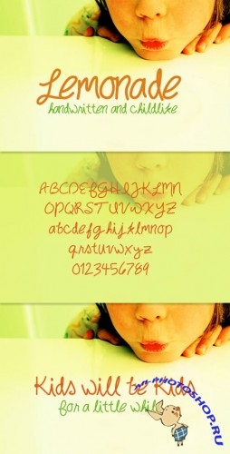 WeGraphics - Lemonade – Handwritten Childlike Font Face