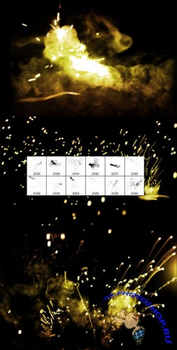WeGraphics - Sparks and Fire Photoshop Brush Set