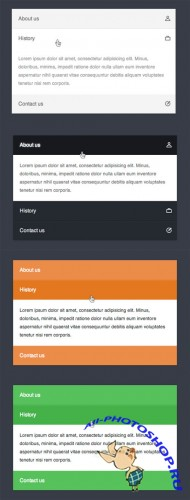 WeGraphics - CSS3 only accordion menu