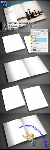 4 PSD Brochure Mock-ups Templates