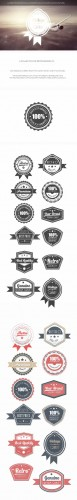 Retro Badges Set 5 Photoshop Templates