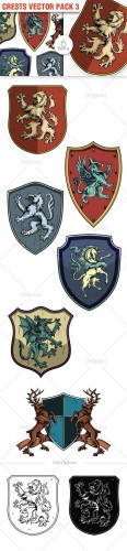 Crests Photoshop Vector Pack 3