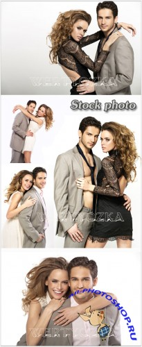Красивая пара  / Beautiful couple - Raster clipart